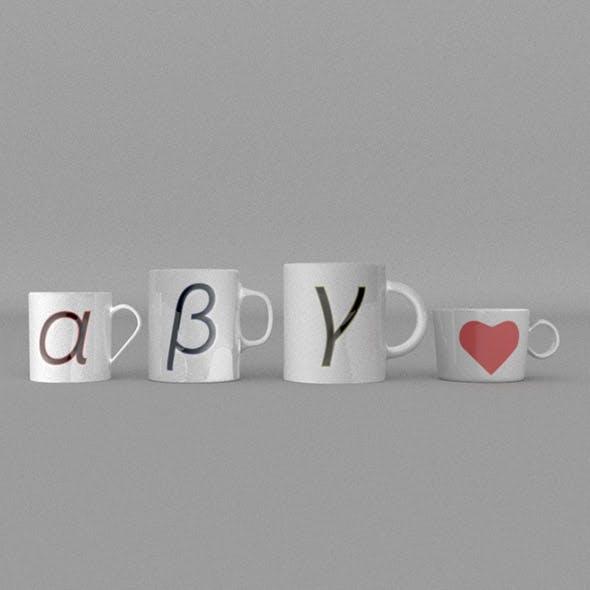 Mug 4type - 3DOcean Item for Sale