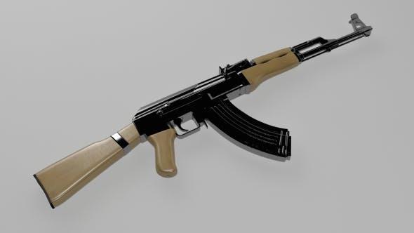 AK-47 Assault Rifle - 3DOcean Item for Sale