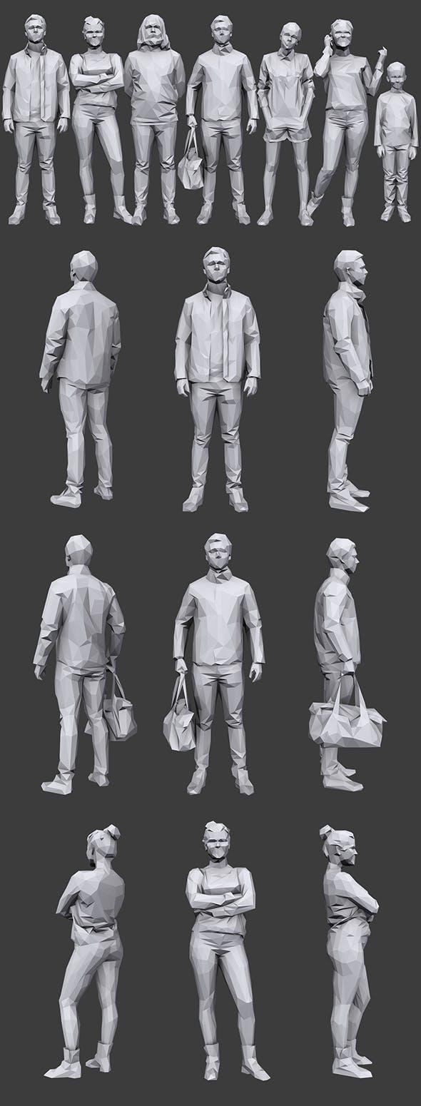 Lowpoly People Casual Pack Vol.15 - 3DOcean Item for Sale