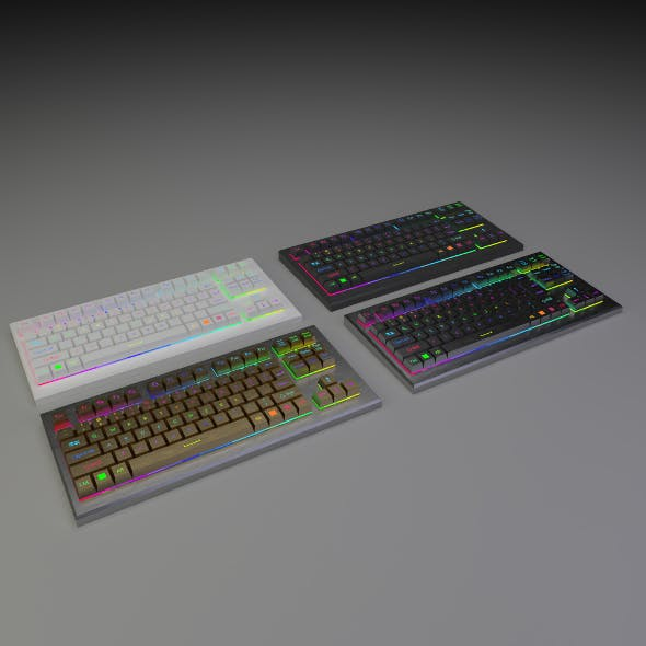 RGB Keyboard - 3DOcean Item for Sale