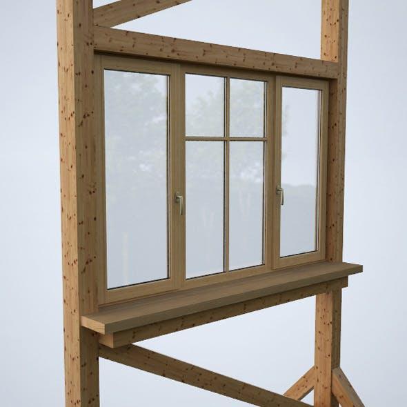 Wood window 1 - 3DOcean Item for Sale