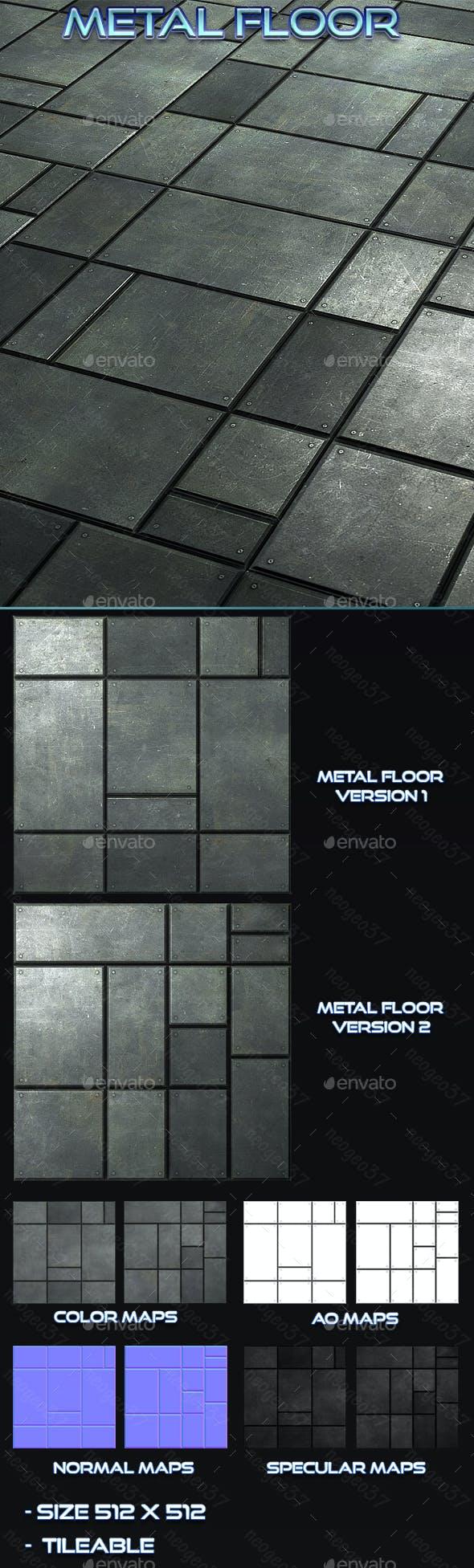 Metal Floor Title - 3DOcean Item for Sale