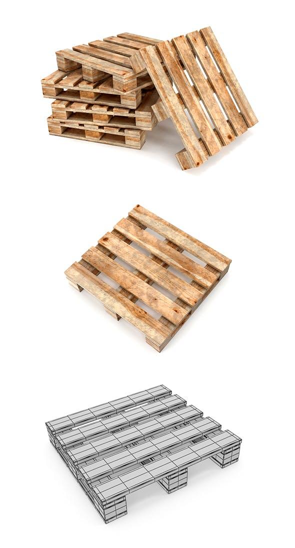 Wood Pallets - 3DOcean Item for Sale