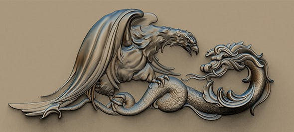 Eagle and Dragon - 3DOcean Item for Sale
