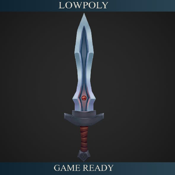 Sword Lowpoly - 3DOcean Item for Sale