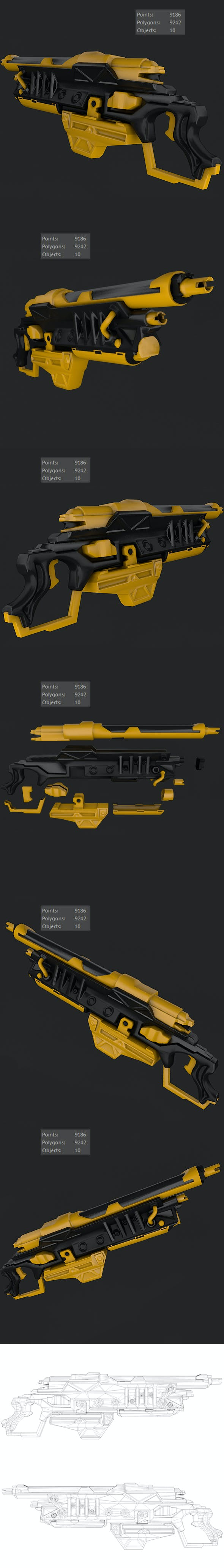 Sci-Fi Gun 01 - 3DOcean Item for Sale
