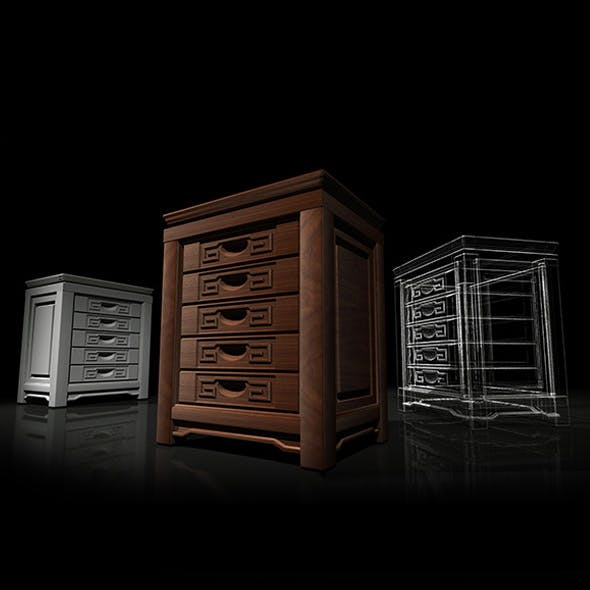 Chinese Cabinet - 3DOcean Item for Sale