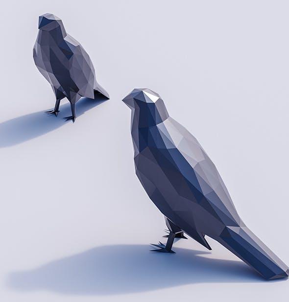 Lowpoly Hawk 001 - 3DOcean Item for Sale
