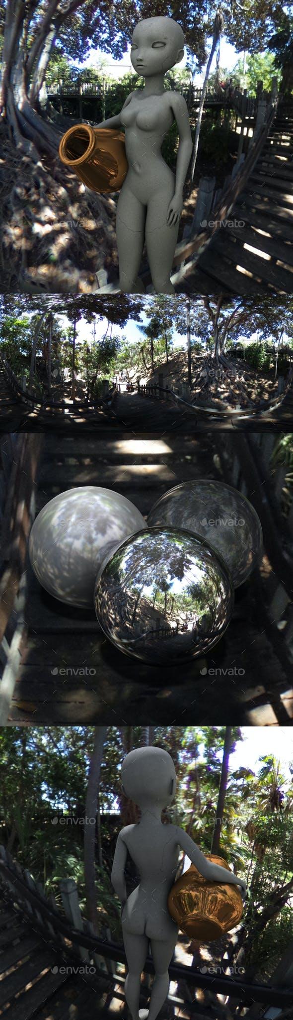 Tropical Shadowy Walkway HDRI - 3DOcean Item for Sale