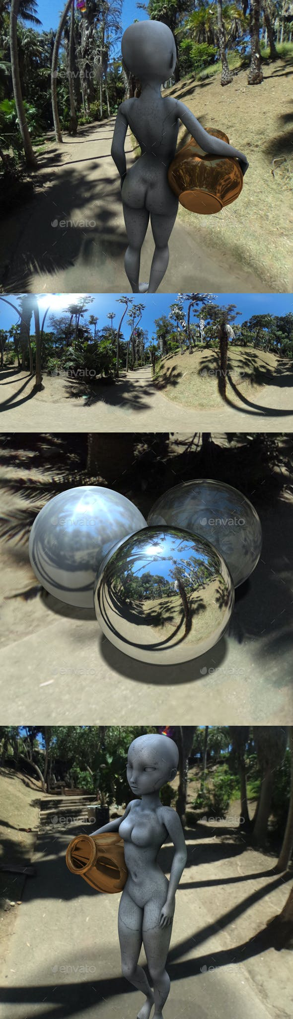 Tropical Trail Blue Sky HDRI - 3DOcean Item for Sale