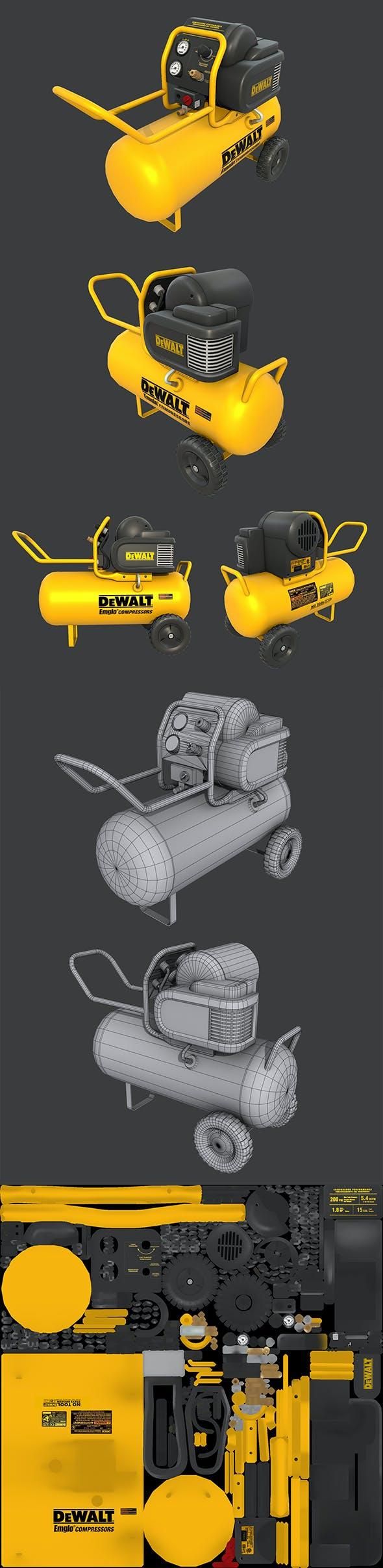 Air Compressor - 3DOcean Item for Sale