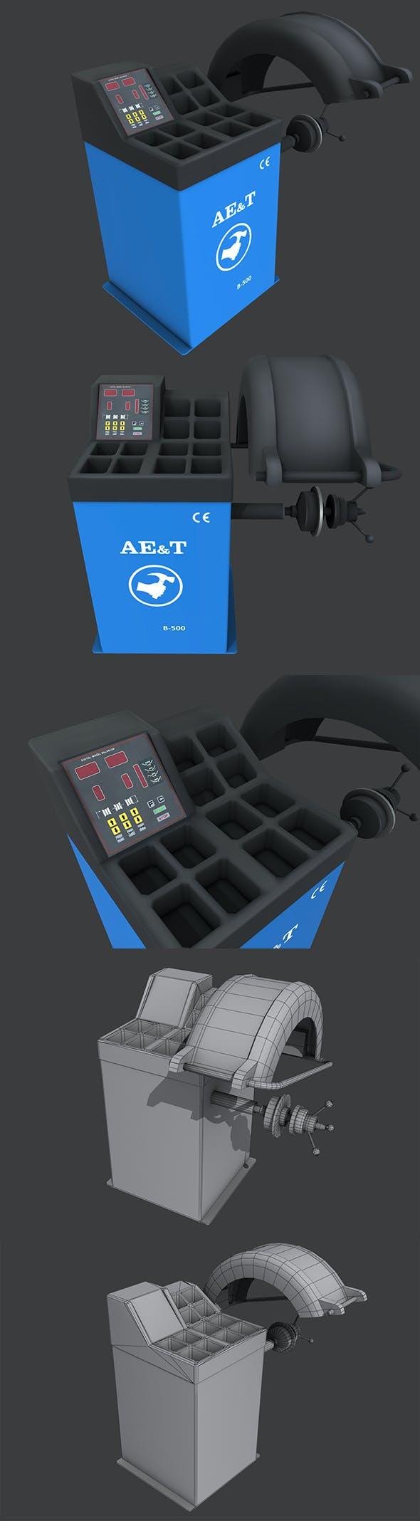 Tire Balancing Machine - 3DOcean Item for Sale