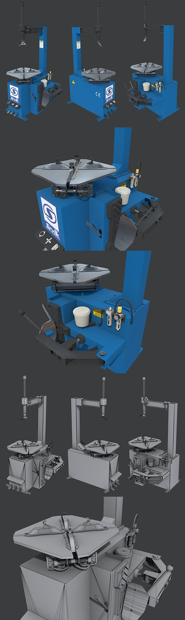 Tire Changer Machine - 3DOcean Item for Sale