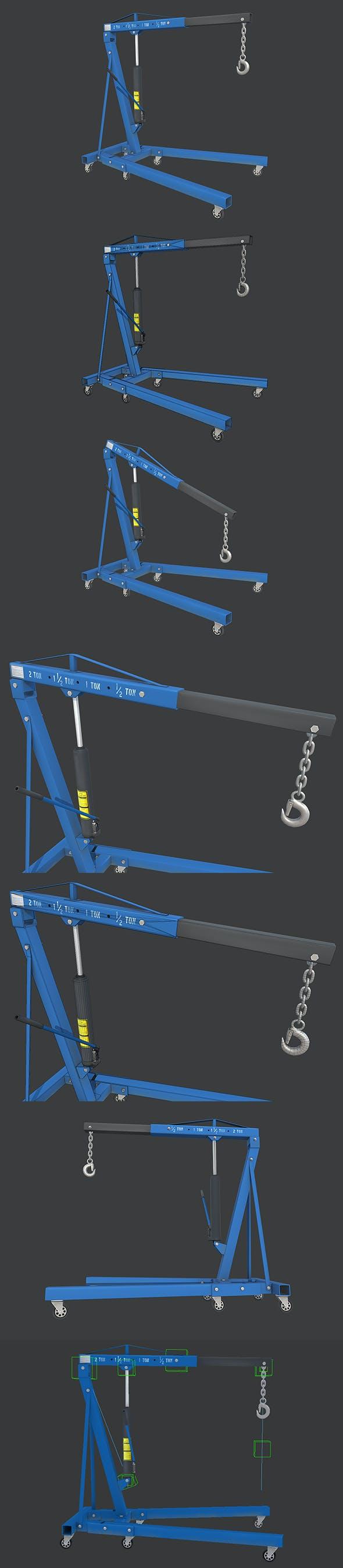 Engine Crane - 3DOcean Item for Sale