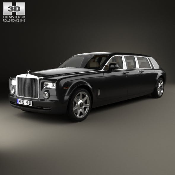 Rolls-Royce Phantom Mutec with HQ interior 2012 - 3DOcean Item for Sale