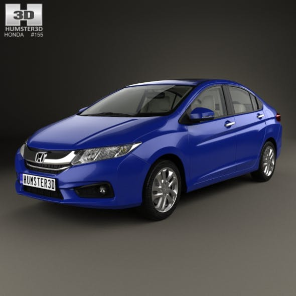 Honda City with HQ interior 2014 - 3DOcean Item for Sale