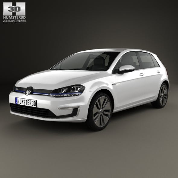 Volkswagen e-Golf 2015 - 3DOcean Item for Sale