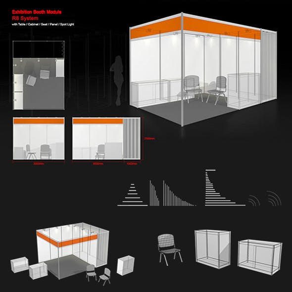 Exhibition Booth Module - 3DOcean Item for Sale