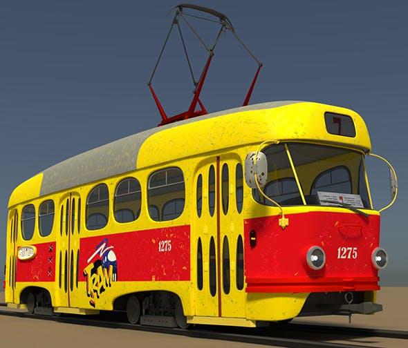 cartoon tram - 3DOcean Item for Sale