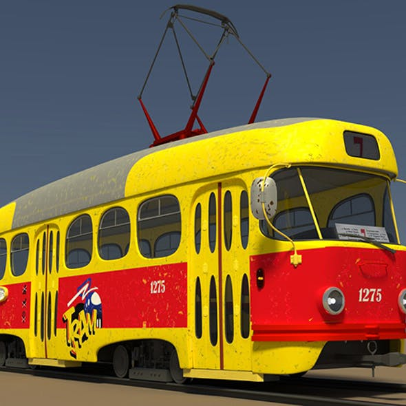 cartoon tram