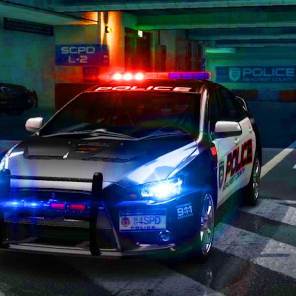 MITSUBISHI LANCER EVOLUTION X NYPD POLICE.