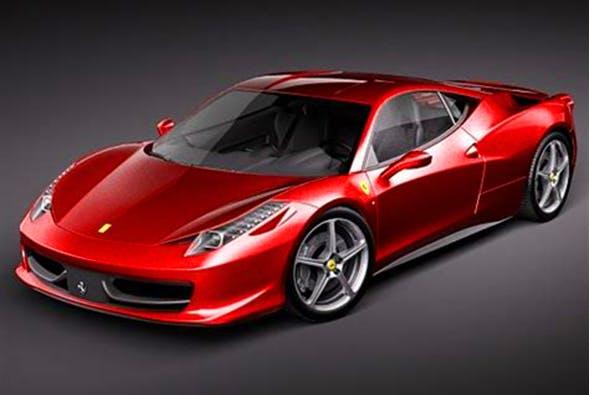 Ferrari 458 Italia 3d model. - 3DOcean Item for Sale