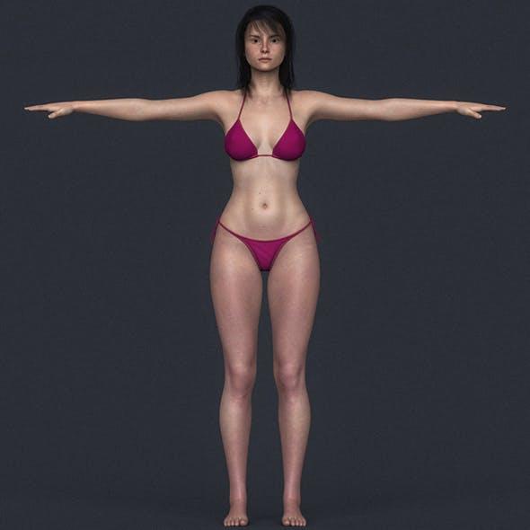 Realistic Young Bikini Girl - 3DOcean Item for Sale