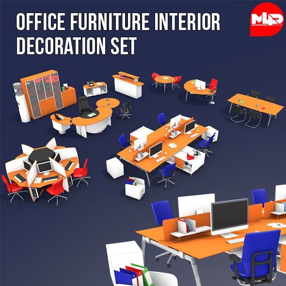 Office Furniture Interior Decoration Set