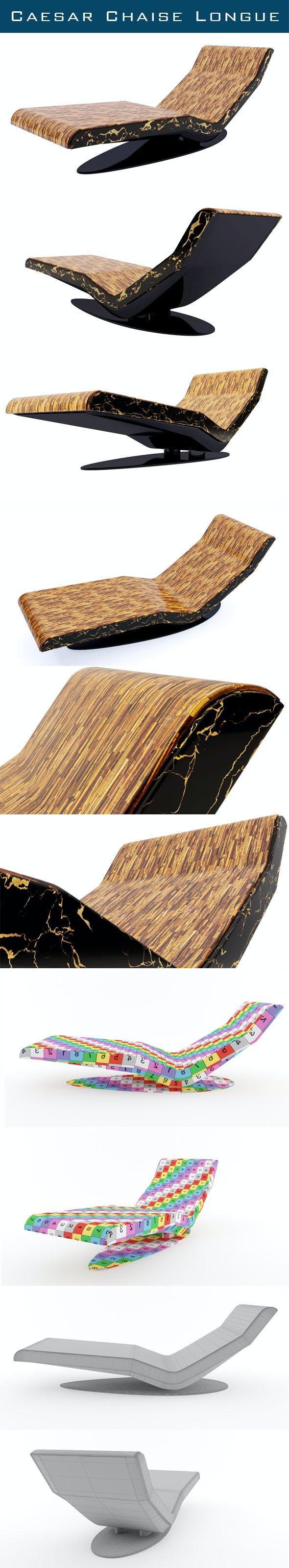 Caesar Chaise Longue - 3DOcean Item for Sale