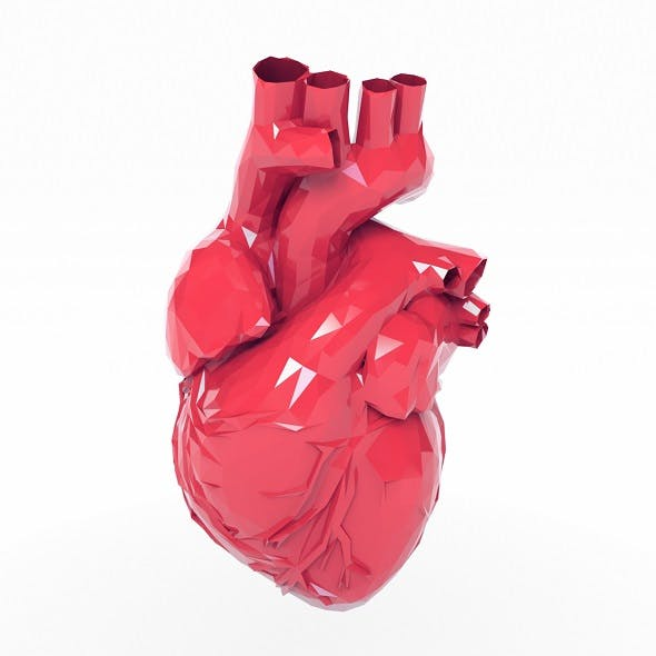 Low Poly Heart - 3DOcean Item for Sale