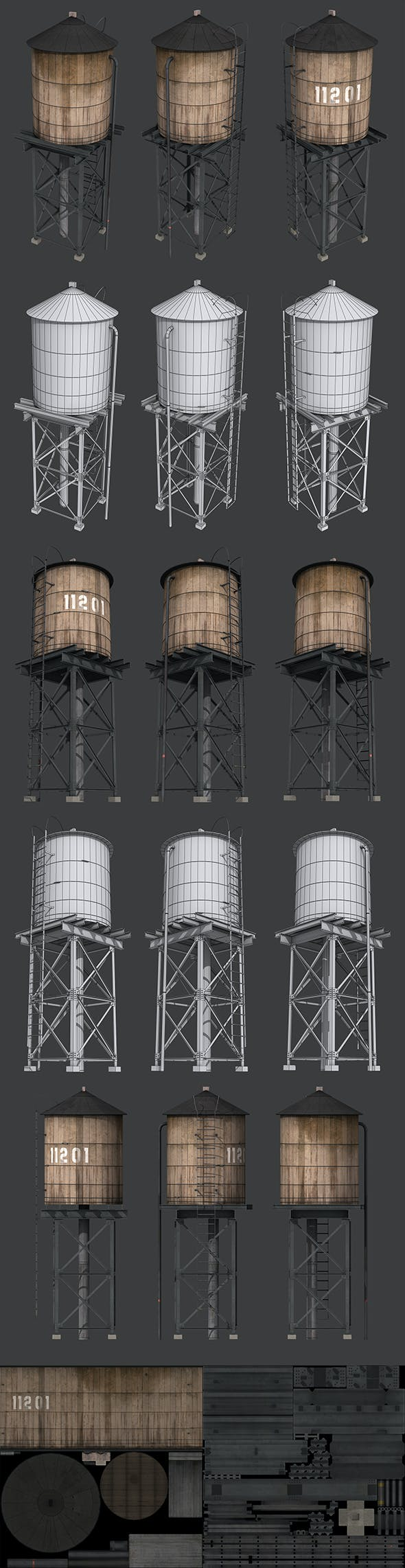 New York Water Tank - 3DOcean Item for Sale