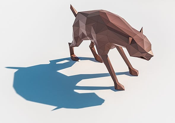 Lowpoly Hyena 001 - 3DOcean Item for Sale