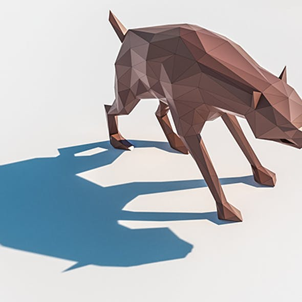 Lowpoly Hyena 001