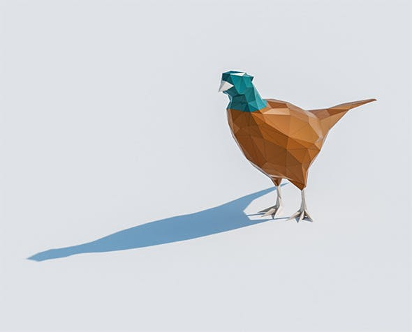 Lowpoly Pheasant 001 - 3DOcean Item for Sale