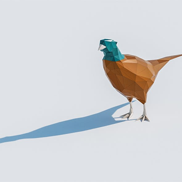 Lowpoly Pheasant 001