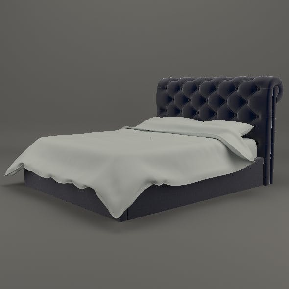Elegant chesterfield bed