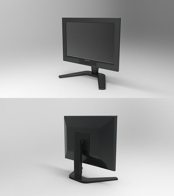 GeyiG - Realistic Monitor 3D Model - 3DOcean Item for Sale