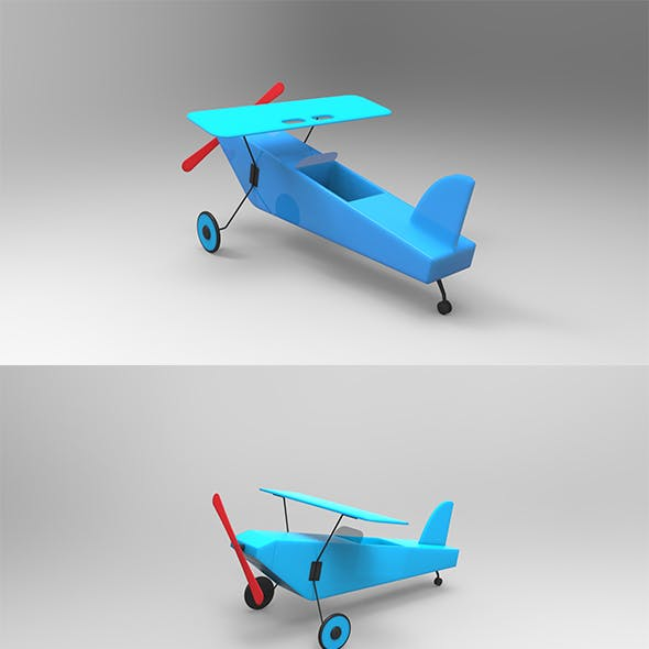 GeyiG - Plastic Toy Plane 3D Model