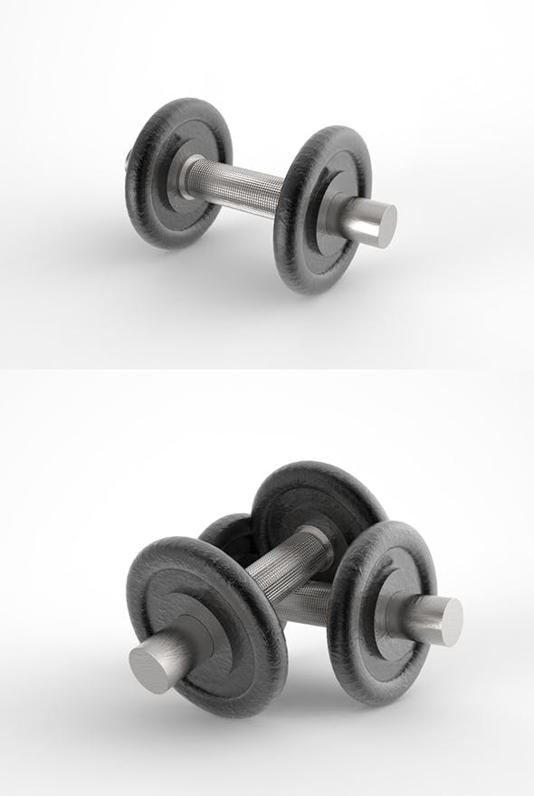 GeyiG - Realistic 3D Dumbbell Model - 3DOcean Item for Sale