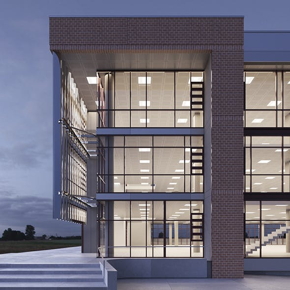 Sciences and Teaching Facility Building - 3DOcean Item for Sale
