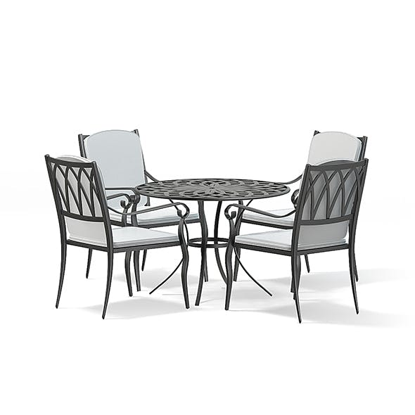 Garden Table Set 3D Model - 3DOcean Item for Sale