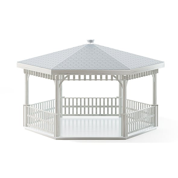 White Garden Gazdebo 3D Model