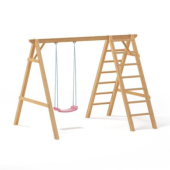 Children Swing with a Ladder 3D Model