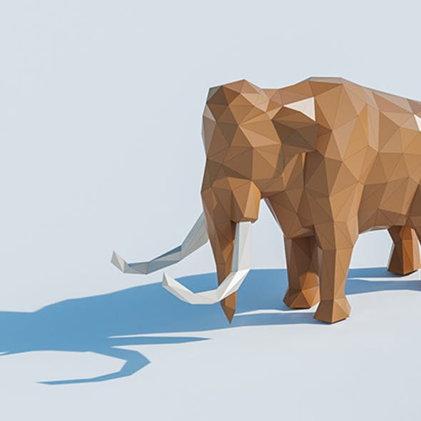 Lowpoly Mammoth 001