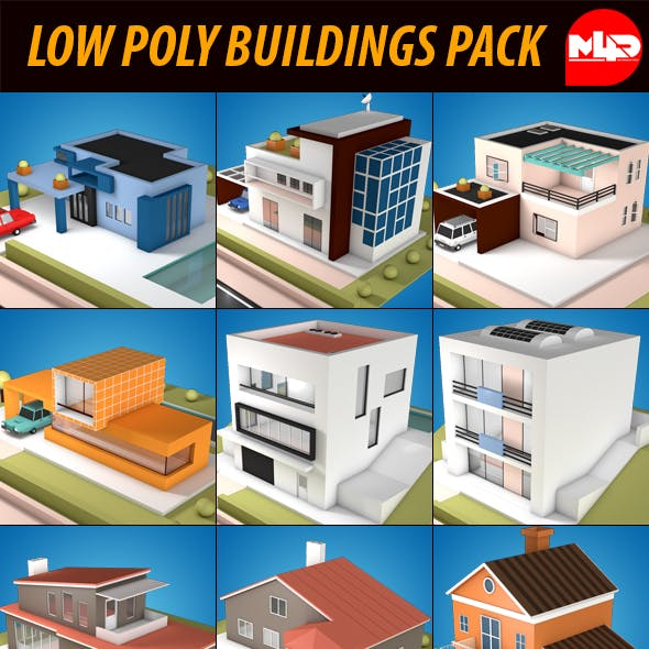 Low Poly Buildings Pack