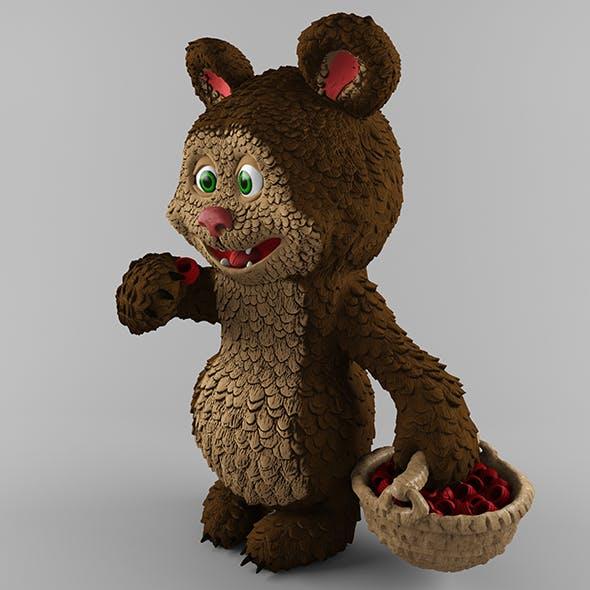 Bear and raspberries