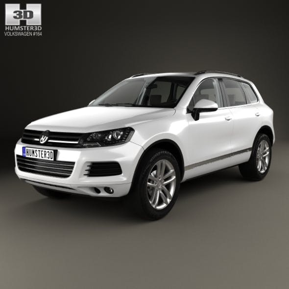 Volkswagen Touareg with HQ interior 2010 - 3DOcean Item for Sale