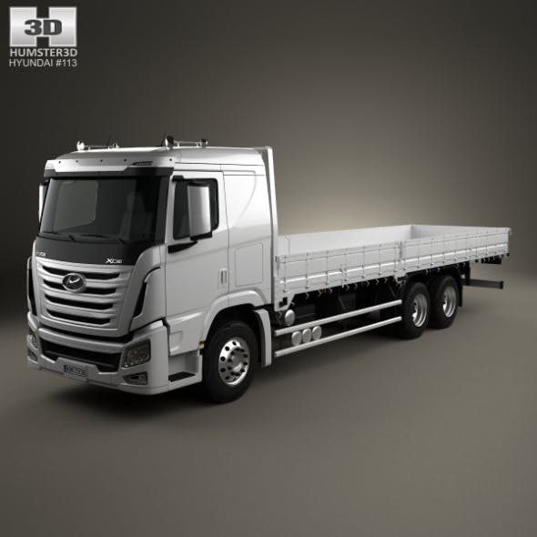 Hyundai Xcient Flatbed Truck 2014 - 3DOcean Item for Sale