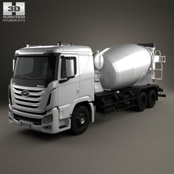 Hyundai Xcient Mixer Truck 2014
