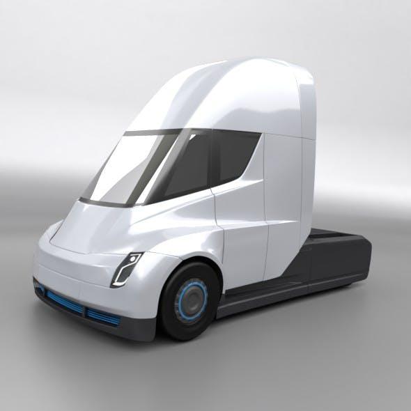 Tesla semi electric truck - 3DOcean Item for Sale